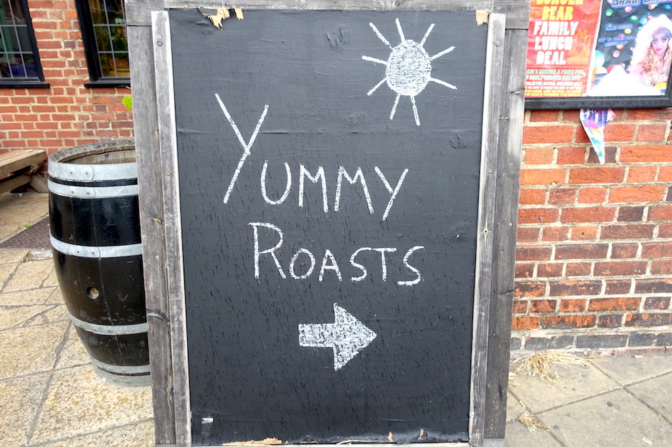 yummy roast sign
