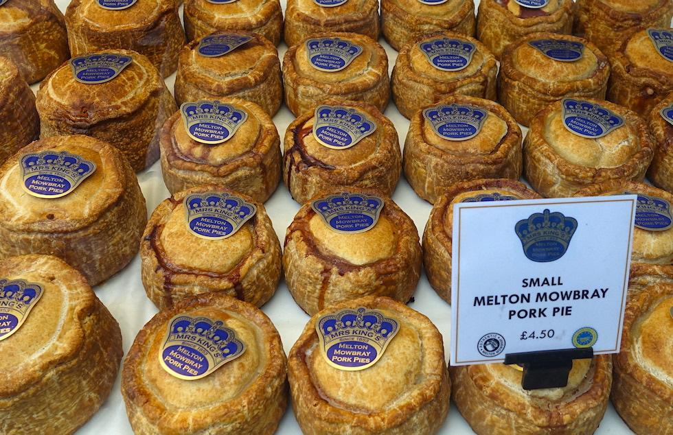 Mrs. King Melton Mowbray pork pies at Borough Market
